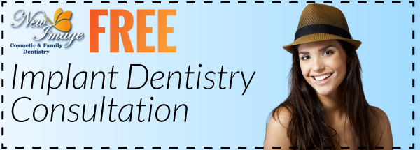 Free Implant Dentistry Consultation Coupon offered by New Image Cosmetic and Family Dentistry serving Portland Oregon and Vancouver Washington